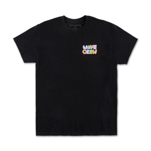 Pink Dolphin - Black Wave Crew Tee - Sixteen Bars