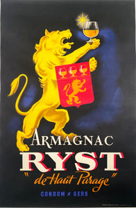 Armagnac Ryst - Vintage French Poster - 1945