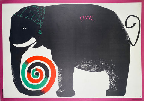 CYRK - Vintage Polish Poster 1964 by Hilscher.