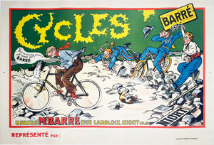 Cycles Barré - Vintage French poster - Artist Unknown - 1910