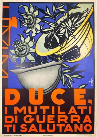 Duce - Vintage Italian Poster 1936 by Casari