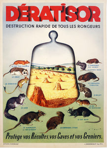 Dératisor - Vintage French Advertisement poster by Wilquin - 1930
