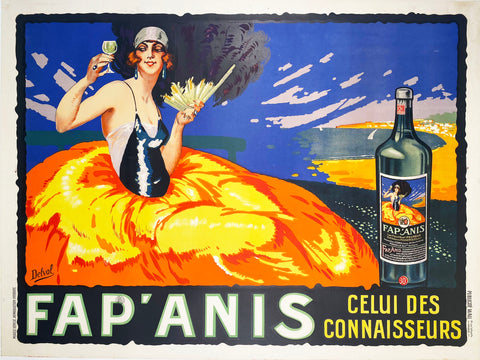 Fap'Anis - Vintage French Apertif Poster 1935 by Delval
