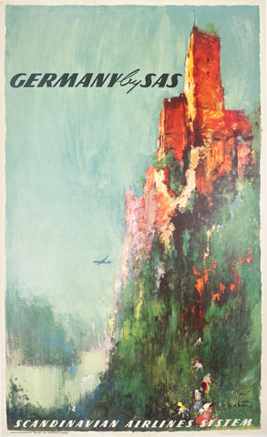 Germany SAS - Vintage Travel Poster 1962