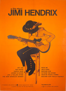 A Film About Jimi Hendrix - Vintage Film Poster 1974