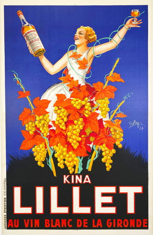 Kina Lillet - Vintage French Liqueur poster by Robys 1937