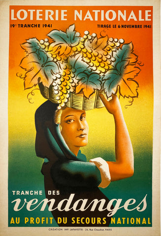 Loterie Nationale - Vintage French poster 1941