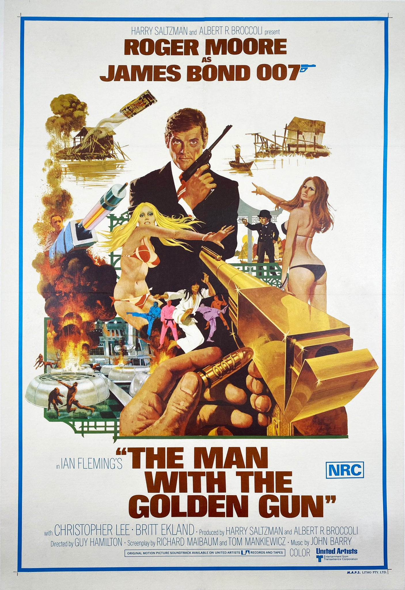 The Man With the Golden Gun - Vintage Film Poster 1974