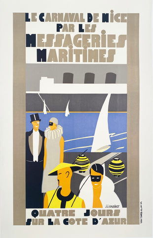 Le Carnival De Nice - Messageries Maritimes by J. J. Gaudinot, 1930