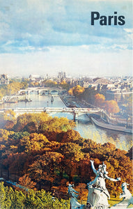 Paris - Vintage Travel Poster 1960's