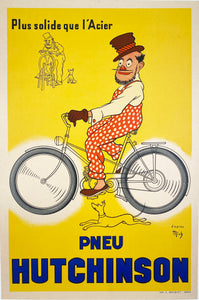 Pneu Hutchinson - Vintage French cycles poster 1939.