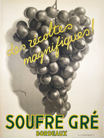 Soufre Gré Bordeaux - Vintage French Wine Poster 1933 by Dupin
