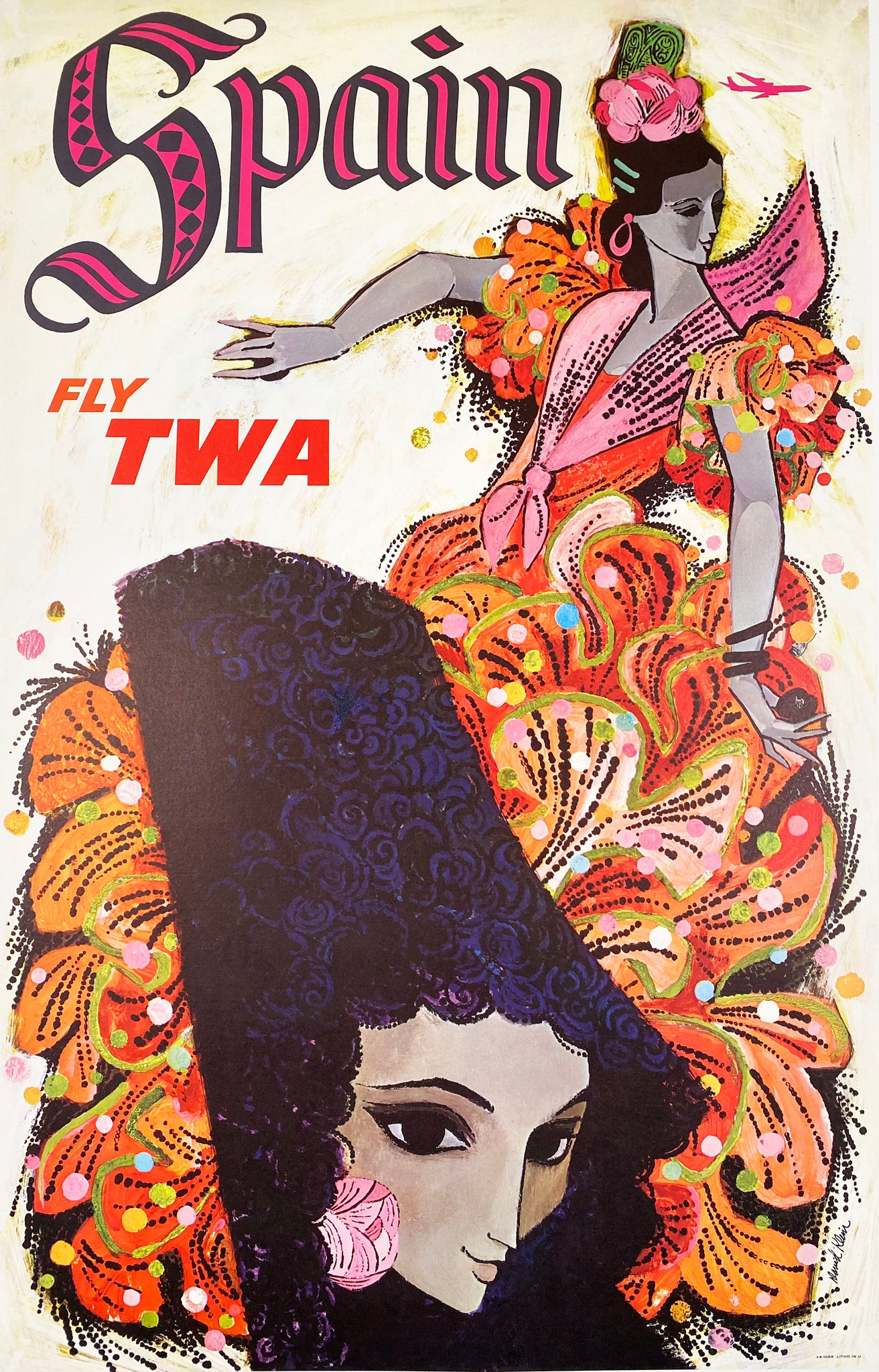 Spain TWA - Vintage Travel Poster 1960