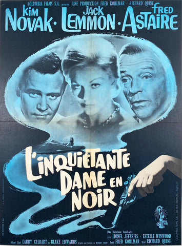 The Notorious Landlady - Vintage French Film poster 1962