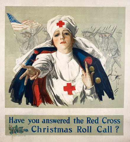 Red Cross WWI vintage poster 1918