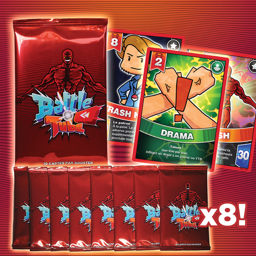 Pack Battle Tube 8 Boosters dont 1 OFFERT !
