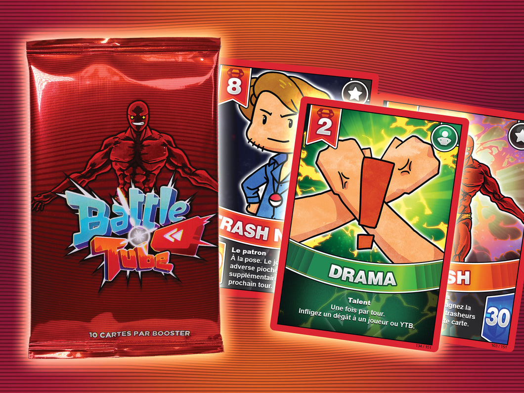 Booster Battle Tube : 9 cartes + 1 Rare Brillante