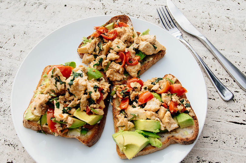 Avocado And Tofu Scramble On Toast
