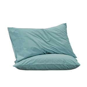 450TC Cotton Percale Standard Pillowcase pair - Surf