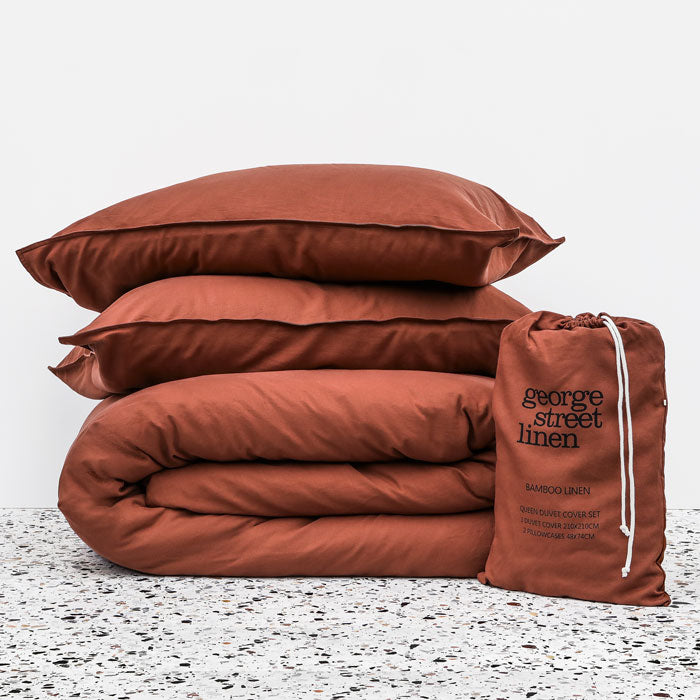 Bamboo Linen Duvet cover set - Clay