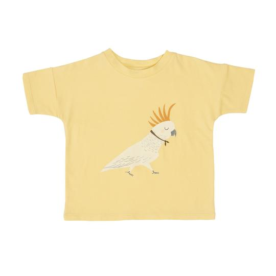 Barbara The Cockatoo Cotton T-Shirt Yellow