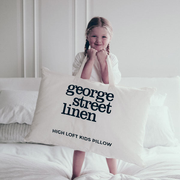 High Loft Kids Pillow - White