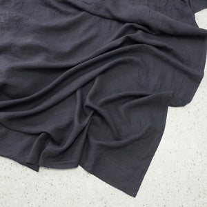 100% Linen washed Flat sheet - Graphite
