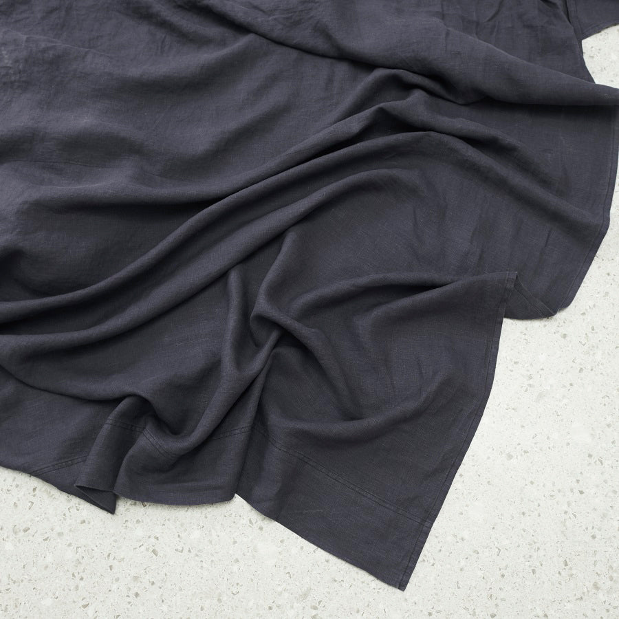 Belgian Linen washed Flat sheet - Graphite