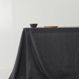 Belgian Linen washed Table Cloth - Graphite