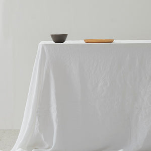 Belgian Linen washed Table Cloth - White