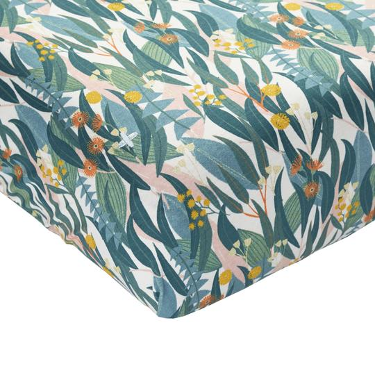 Bushland Cotton Jersey Fitted Sheet