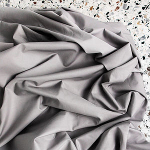450TC Cotton Percale Flat Sheet - Fog
