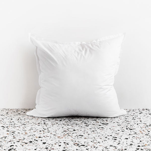 450TC Cotton Percale European Pillowcase - White