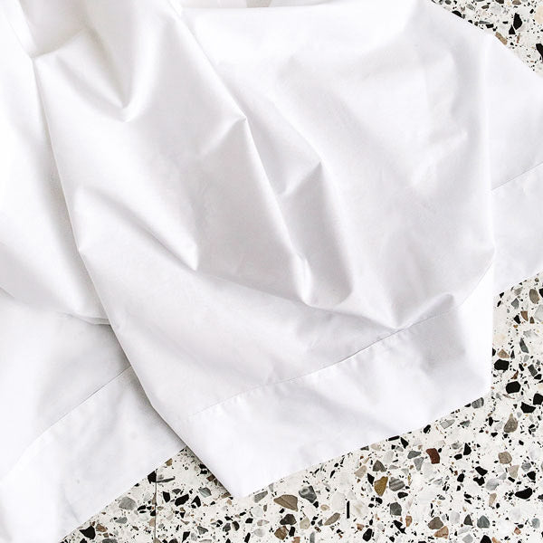 450TC Cotton Percale Flat Sheet - White