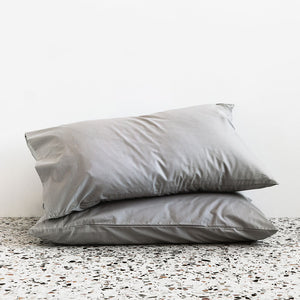 450TC Cotton Percale Pillowcase pair - Fog