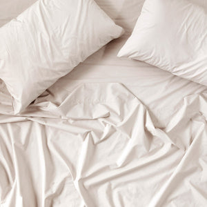 450TC Cotton Percale Flat Sheet - Linen
