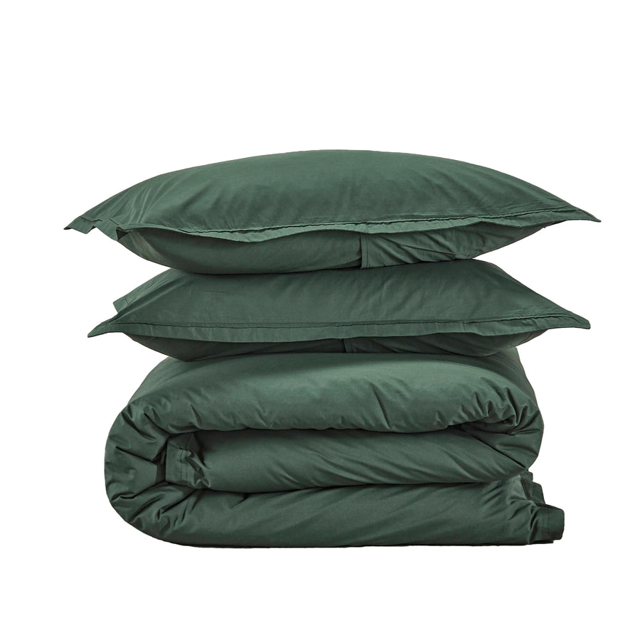 450TC Cotton Percale Duvet cover set - Fern