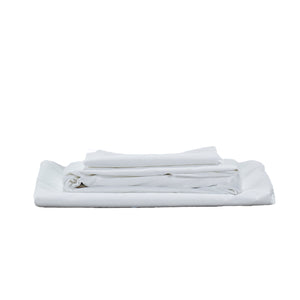 450TC Cotton Percale Sheet set - White