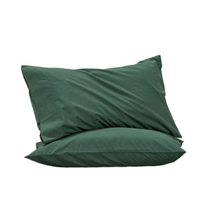 450TC Cotton Percale Standard Pillowcase pair - Fern