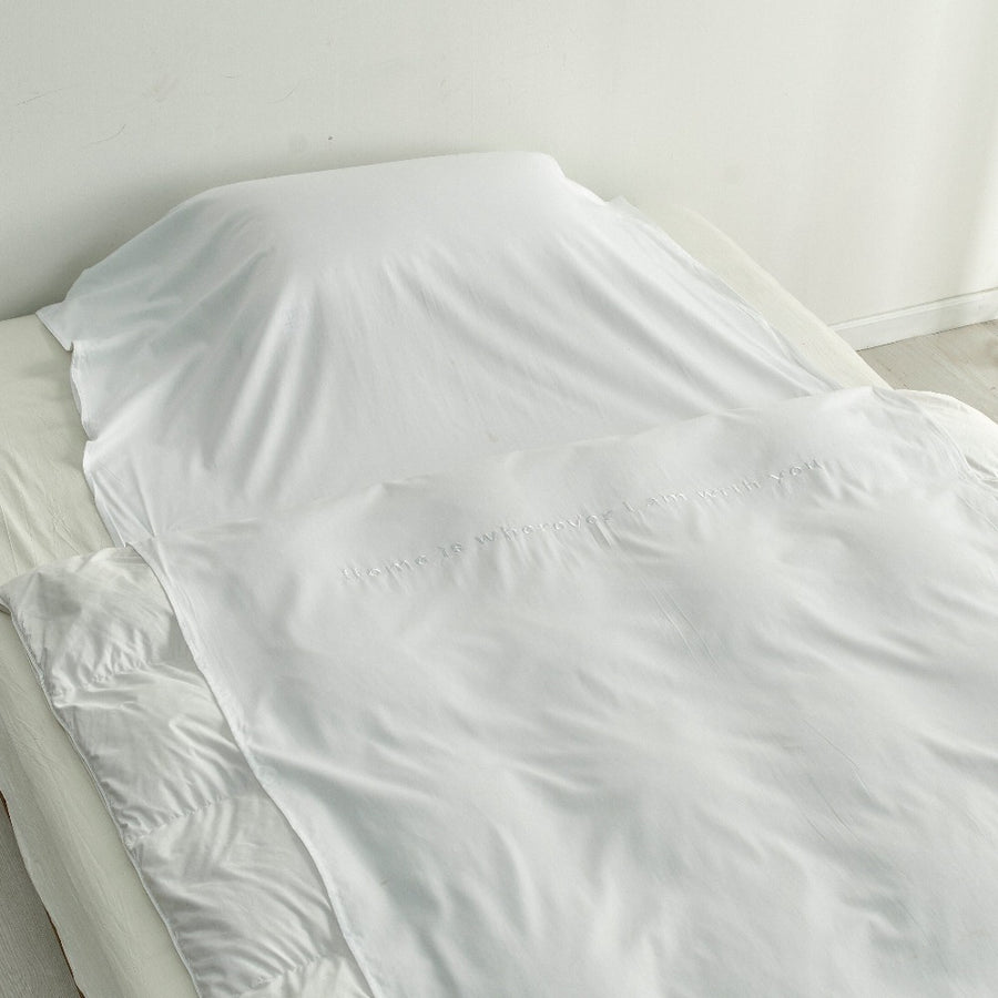 Bamboo Cotton Travel Bed Sheet - White