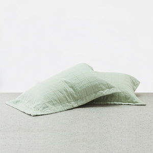 100% Linen Pillowcases - Sage