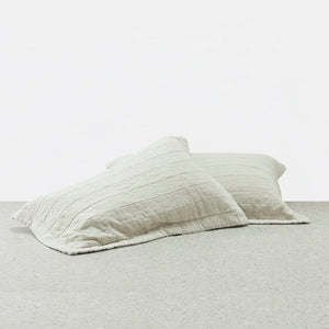 Belgian Linen washed Pillowcases - Natural