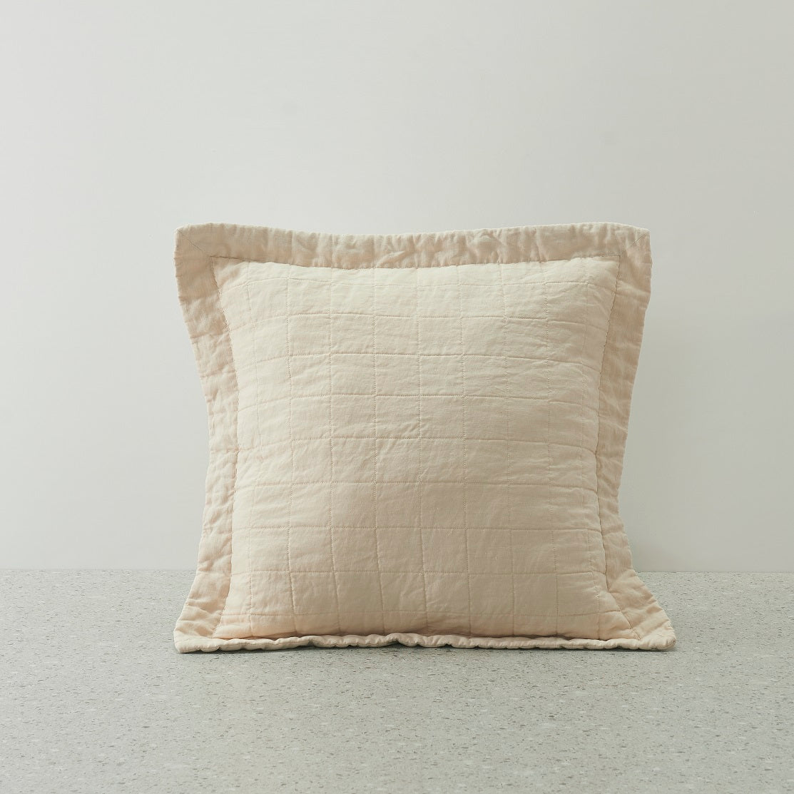 Belgian Linen Quilted washed cushion covers - 50x50cm