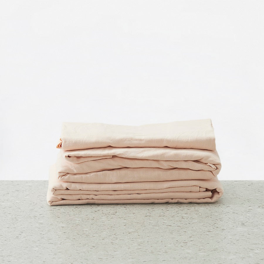 Cambric Cotton Washed Sheet set - Shell