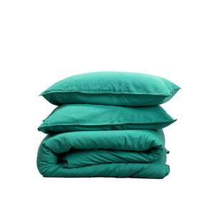 Bamboo Linen Duvet cover set-Sea Blue