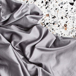 Extra Soft Washed Sateen Fitted Sheet - Dove