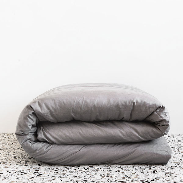 Extra Soft Washed Sateen Duvet Cover - Dove