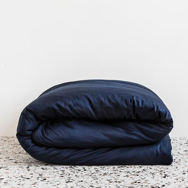 Extra Soft Washed Sateen Duvet Cover - Indigo