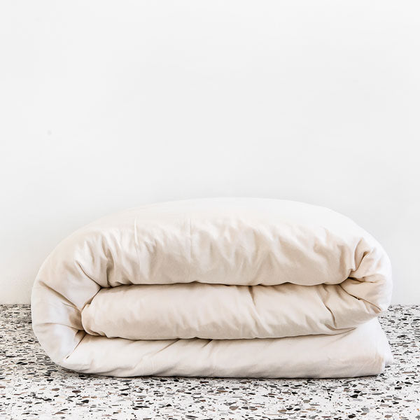 Extra Soft Washed Sateen Duvet Cover - Ivory