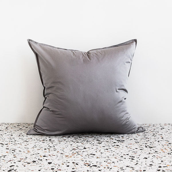 Extra Soft Washed Sateen European Pillowcase - Dove